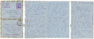 Letter sent from Sister Caswell to her Aunt Edith from Jigiga 7th March 1974