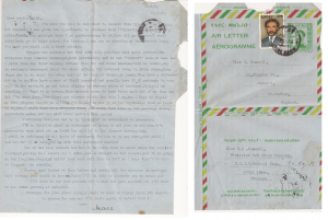 Letter sent from Sister Caswell to her Aunt Edith from Jigiga 13th June 1974